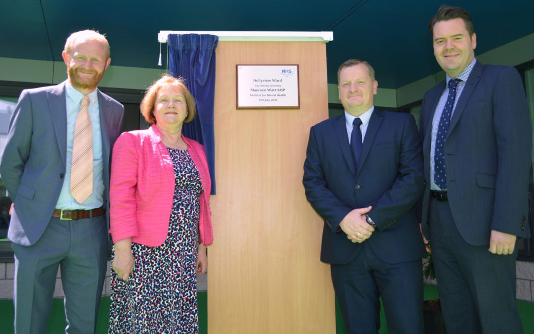 MINISTER FOR MENTAL HEALTH OPENS NEW FACILITY AT STRATHEDEN HOSPITAL