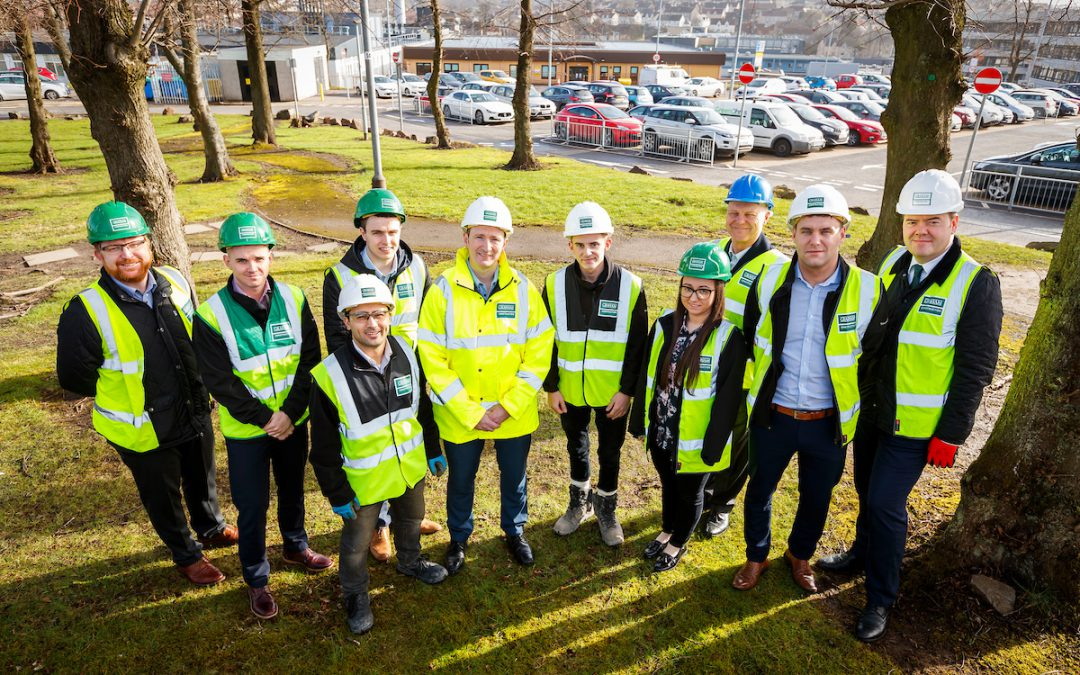 MSP meets apprentices at Monklands Hospital site